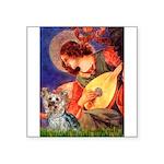 Mandolin Angel & Yorkie (T) Square Sticker 3