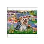 LILIES / Yorkie (T) Square Sticker 3
