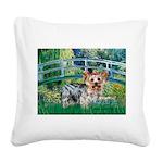 Bridge / Yorkie (T) Square Canvas Pillow