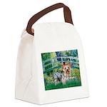 Bridge / Yorkie (T) Canvas Lunch Bag