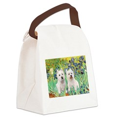 Irises-Westies 3and11-smaller.png Canvas Lunch Bag