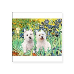 Irises-Westies 3and11-smaller.png Square Sticker 3
