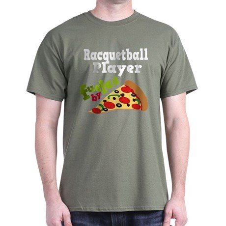 Racquetball Player Funny Pizza Dark T-Shirt