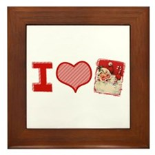 I (heart) love Santa Framed Tile