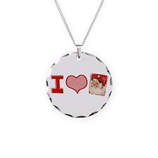 I (heart) love Santa Necklace