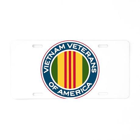 VVA logo Aluminum License Plate