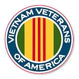 Vietnam veteran Round Car Magnets