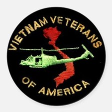 VVA Chopper Round Car Magnet
