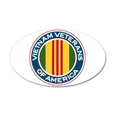 VVA Logo 20X12 Oval Wall Decal