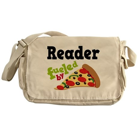 Reader Fueled By Pizza Messenger Bag