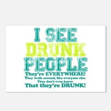 I See Drunk People Postcards (Package of 8)