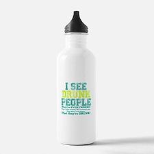 I See Drunk People Water Bottle