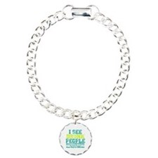 I See Drunk People Charm Bracelet, One Charm