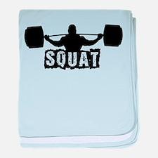 Squat Design. Black. baby blanket