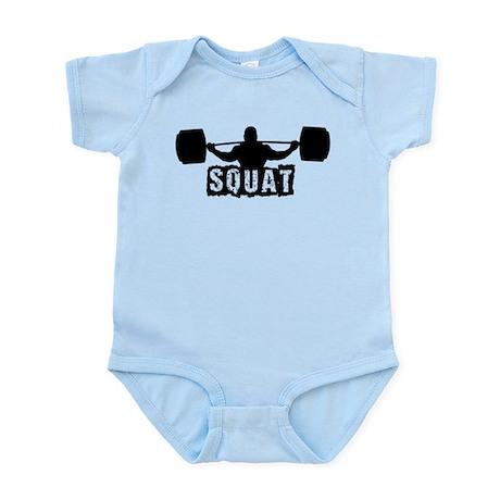 Squat Design. Black. Infant Bodysuit