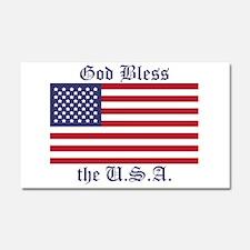 God Bless the USA Car Magnet 20 x 12