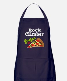 Rock Climber Funny Pizza Apron (dark)