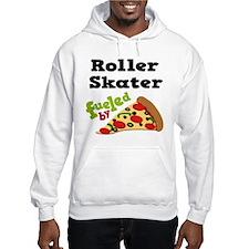 Roller Skater Funny Pizza Jumper Hoody