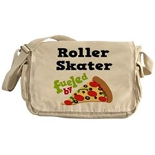 Roller Skater Funny Pizza Messenger Bag