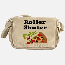 Roller Skater Funny Pizza Messenger Bag