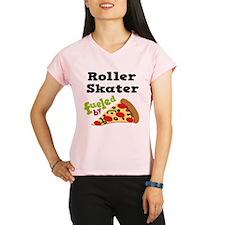 Roller Skater Funny Pizza Performance Dry T-Shirt