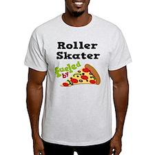 Roller Skater Funny Pizza T-Shirt