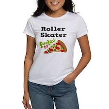 Roller Skater Funny Pizza Tee