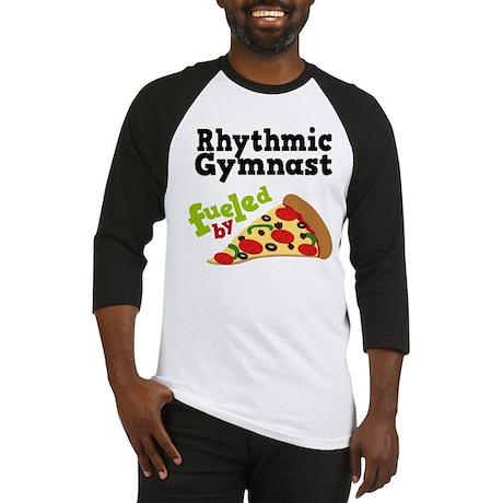 Rhythmic Gymnast Funny Pizza Baseball Jersey
