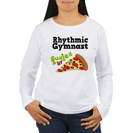 Rhythmic Gymnast Funny Pizza Women's Long Sleeve T