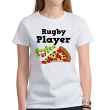 Rugby Player Funny Pizza Tee