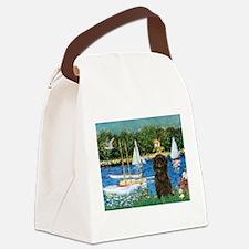 Sailboats & Affenpinscher Canvas Lunch Bag