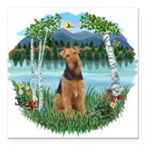 Terrier Square Car Magnets