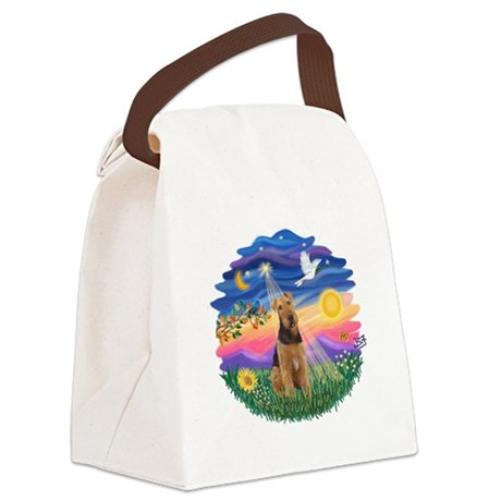 Twilight - Airedale 1.png Canvas Lunch Bag