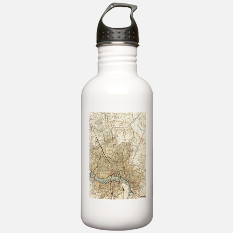 Vintage Map of Richmon Water Bottle