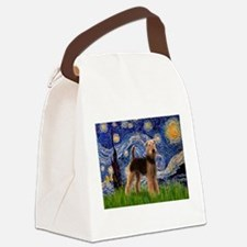 5.5x7.5-Starry-Airedale1.png Canvas Lunch Bag