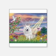 "Cloud Angel / Eskimo Square Sticker 3"" x 3"""