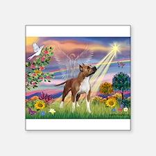 "Cloud Angel & Amstaff Square Sticker 3"" x 3"""