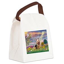 Cloud Angel Aussie Terrier Canvas Lunch Bag