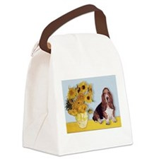 card-Sunflwrs-Basset1.png Canvas Lunch Bag