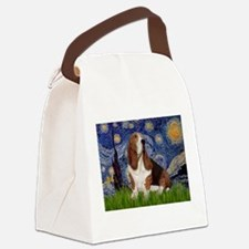 Starry Night Basset Canvas Lunch Bag
