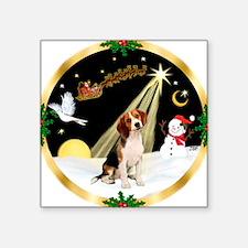 "Night Flight/Beagle Square Sticker 3"" x 3"""