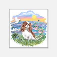 Sunrise Lilies - Cavaler (Bl2).png Square Sticker