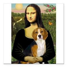 "TILE-Mona-Beagle7.png Square Car Magnet 3"" x 3"""