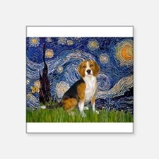 "5.5x7.5-Starry-Beagle7.png Square Sticker 3"" x 3"""