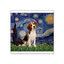 "MP-Starry-Beagle1-nc.PNG Square Sticker 3"" x 3"""