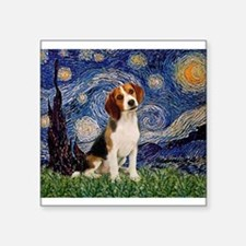 """MP-Starry-Beagle1-nc.PNG Square Sticker 3"""" x 3"""""""
