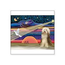 "Xmas Star & Bearded C Square Sticker 3"" x 3"""