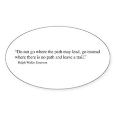 Ralph Waldo Emerson quotation Oval Decal