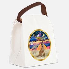 XmasStar/Malanois Canvas Lunch Bag