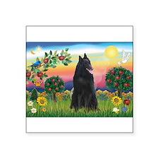 Bright Country & Belgian Shepherd Square Sticker 3